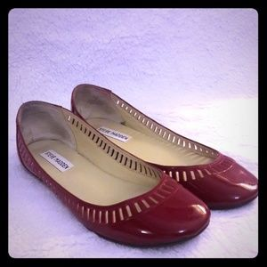 Steve Madden Red Patent Leather Ballet Flats
